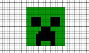 Minecraft Creeper Pixel Art – BRIK