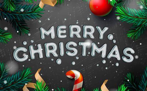 simple merry christmas illustration desktop wallpaper
