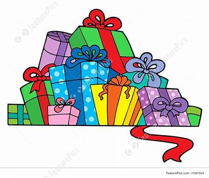 Gifts Pile Various Illustration Vector