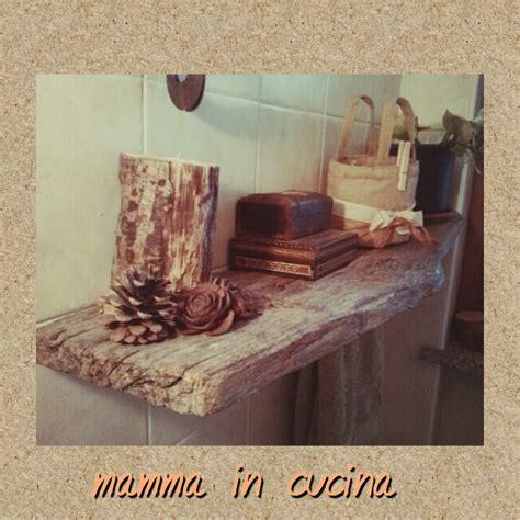 Mensole Legno Grezzo Mamma In Cucina Gemma Mensola Con Legno Grezzo