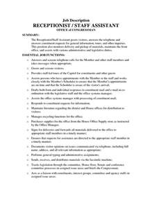 front office assistant duties for resume assistant description in a hospital assistant resume duties