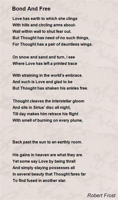 bond   poem  robert frost poem hunter