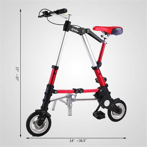 mini folding bike 8 quot mini aluminum alloy travel lightweight portable folding bike foldable bicycle ebay
