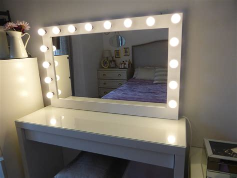 Vanity Mirror With Bulbs - xl vanity mirror 43 x 27 makeup mirror