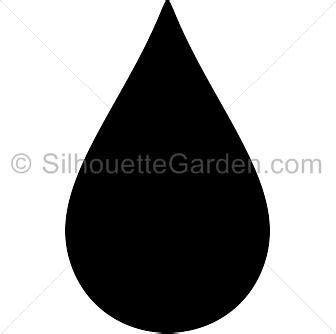 raindrop silhouette