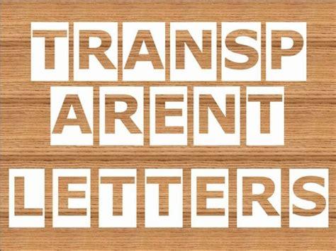 transparent letters powerpoint template
