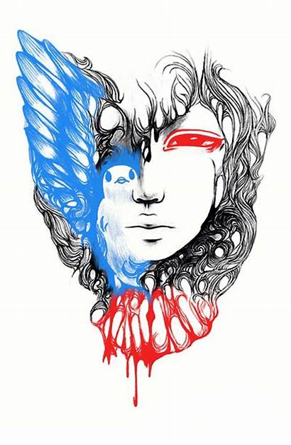 Graphic Surrealism Peace War Mementomori Piece Dove