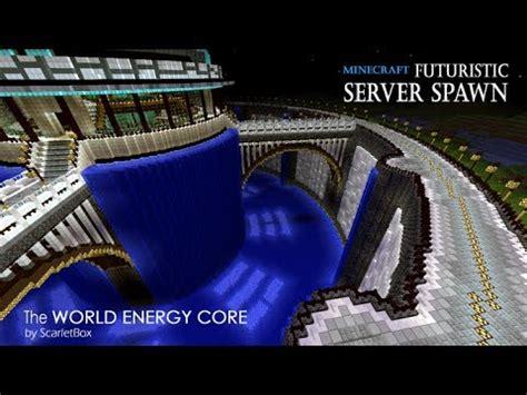 futuristic server spawn  world energy core minecraft