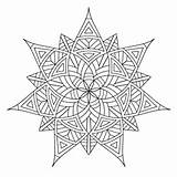Coloring Pages Geometric Adults Printable Colouring Sheet Designs Square Mandala Pattern Shapes Shaped sketch template