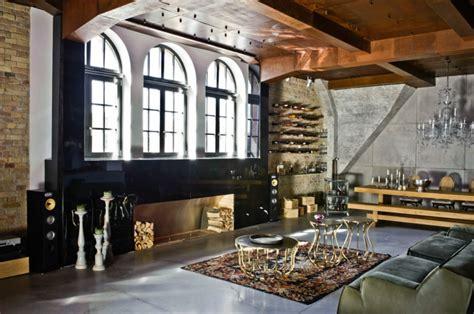 Loft Der Moderne Lebensstilmauerwerk Und Holz In Loft by Loft Einrichten 92 Verbl 252 Ffende Ideen