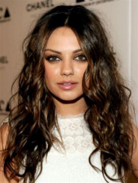 dark brown hair with light brown tips dark brown curly hair with light brown highlights for