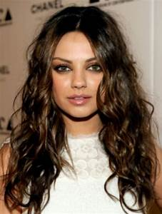 Dark brown curly hair with light brown highlights- for ...