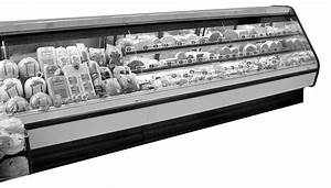 Lift Front Straight Glass Meat  Seafood  Deli Merchandiser