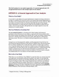 An approach to case analysis for Sample medical case study template