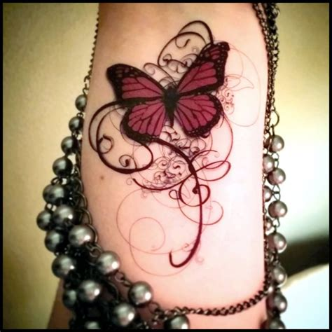 classic gothic butterfly tattoo design
