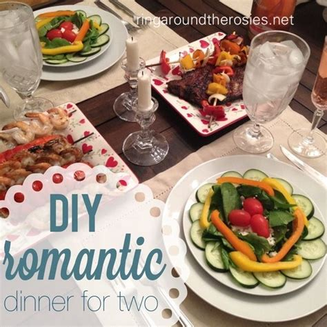 diy romantic dinner for two anniversary style yummy in