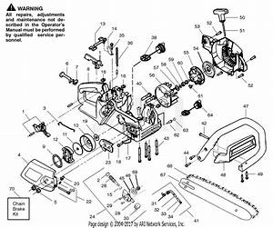 Poulan Pp210 Gas Saw  210 Gas Saw Parts Diagram For Handle  Chassis  U0026 Bar Assembly