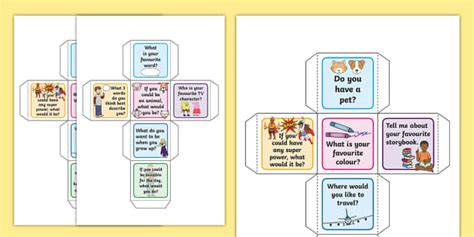 Spark A Conversation Dice Activity  Spark A Conversation Prompt Cards
