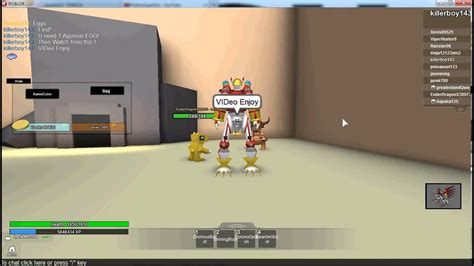 roblox digimon aurity agumon egg glitch youtube