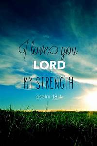 I love you, Lord, my strength