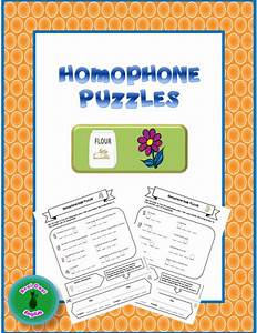 These Homophone Puzzles Are A Fun Way To Review And Practice Homophones  They Are Also Great For