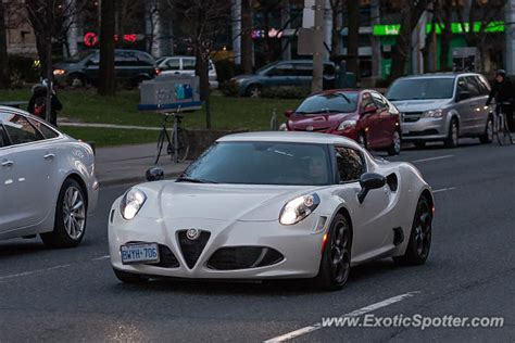 Alfa Romeo 4c Spotted In Toronto, Canada On 04/17/2015