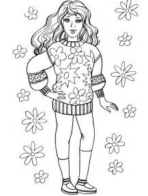 Fashionable Girls Coloring Pages