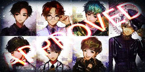 bts anime wallpaper bts dope anime version by