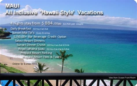 hawaii vacation packages  inclusive holidaymapqcom