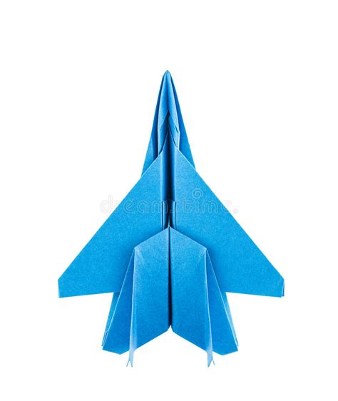 Origami F-15 Eagle Jet Fighter Airplane Stock Photo