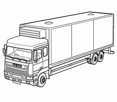 Coloring Truck Pages Semi Printable Trucks Procoloring