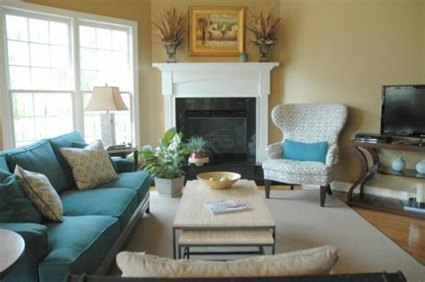 Great Sofa Placement Around Corner Fireplace Ideas For