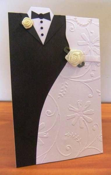 creative wedding day bride  groom dress  greeting cards