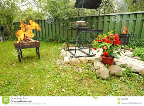 Backyard Bbq Stock Photo. Image Of Party, Meal, Backyard