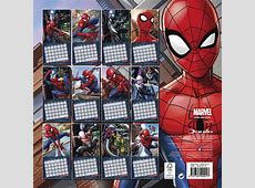 Marvel SpiderMan Official 2018 Calendar Includes 70 Coloured Dot Stickers 5053386864501 eBay