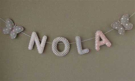 lettre prenom chambre bebe banderole prénom ou lettres pour décoration chambre bébé