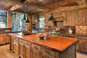 top 10 beautiful rustic kitchen interiors for a warm With kitchen cabinet trends 2018 combined with rustic wood candle holder