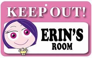 Keep Out Door Sign - Erin's Room – NeedThatGift