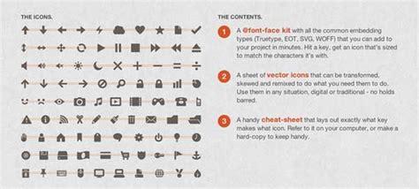 icon fonts vanseo design