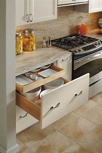 Deep drawer base cabinet with rollout omega for Kitchen cabinet trends 2018 combined with sticker roll dispenser
