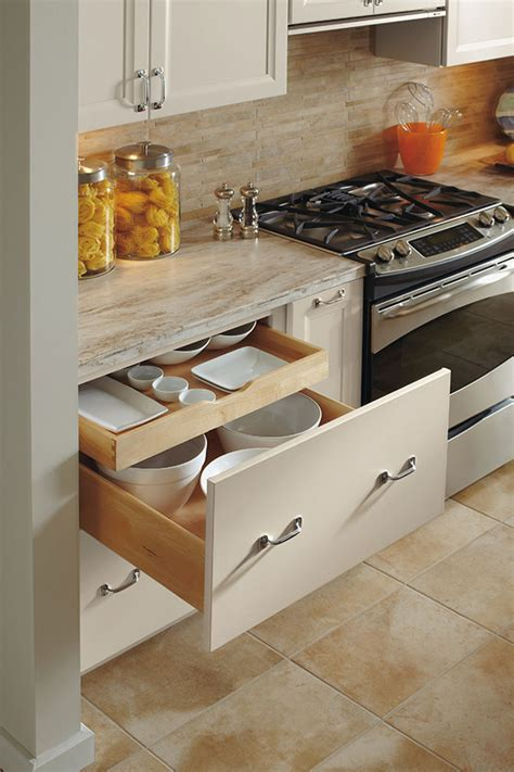 Deep Drawer Base Cabinet With Rollout   Omega