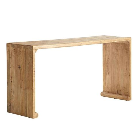 natural wood sofa table rustic 3 drawers wood console table