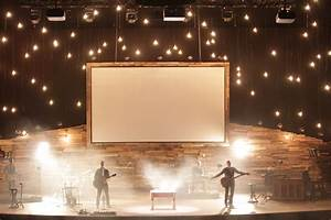 Mountain Star Church Stage Design Idea Rustic Interior Design For The Living Room