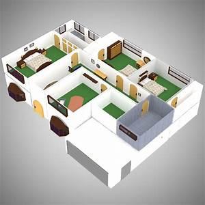 House, Interior, For, Poser, 3d, Models, Vanishingpoint