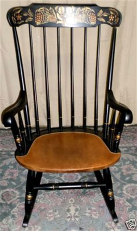 Hitchcock Rocking Chair Black by Vintage Black Hitchcock Rocker Rocking Chair By