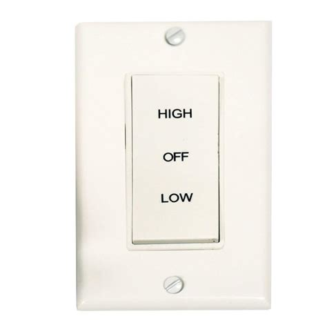 Master Flow 2 Speed Wholehouse Fan Control Switch Bws2