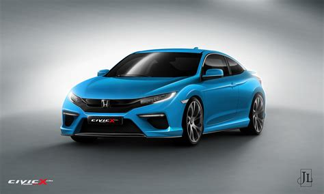 honda civic coupe rendered  vanilla  super hot