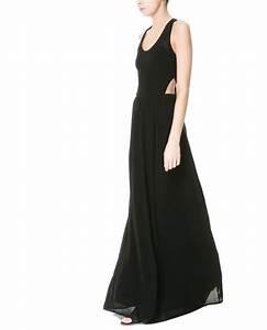 robe de soiree longue zara 2013 noire ouverte dos la With zara robe soirée longue