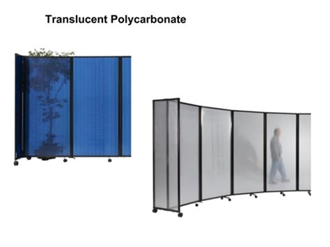 Ft Tall Portable Room Divider Translucent