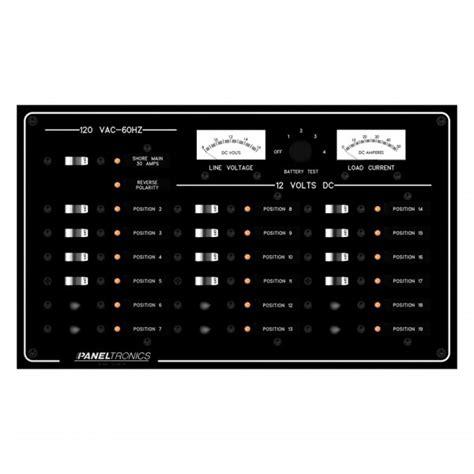 Paneltronics® 9973410B - Standard 19-Gang 120V DC Circuit ...